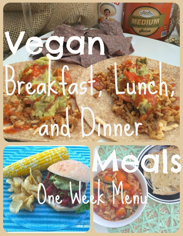 Vegan Breakfast, Lunch, and Dinner Meals
