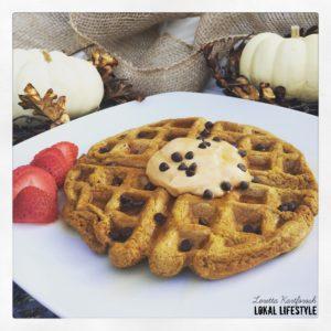 Vegan Pumpkin Spice Belgian Waffles
