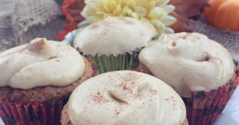 Vegan Kahlua Pumpkin Spice Cupcakes